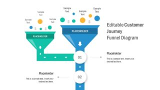 Creative Customer Journey Funnel Diagram for PowerPoint