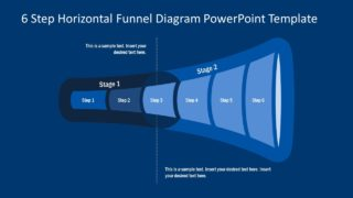 6-Step Horizontal Funnel Diagram for PowerPoint