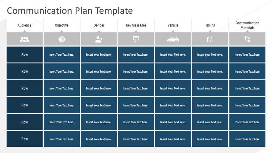 PPT Communication Plan Infographics