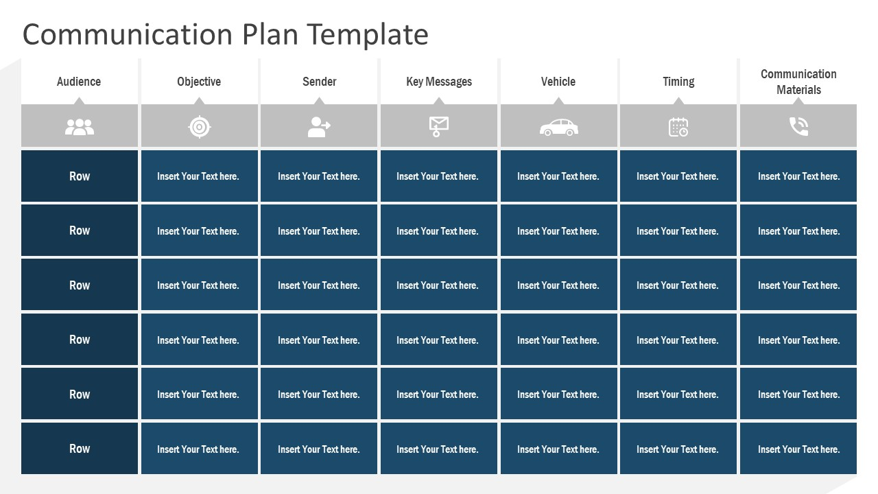 PPT Communication Plan Infographics