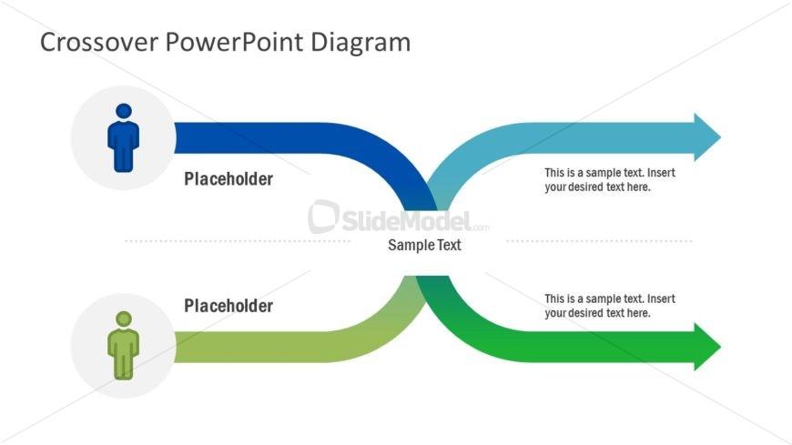 Two Arrow Curved Arrow PowerPoint
