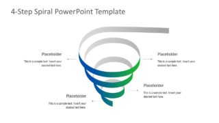 4-Step Spiral PowerPoint Template