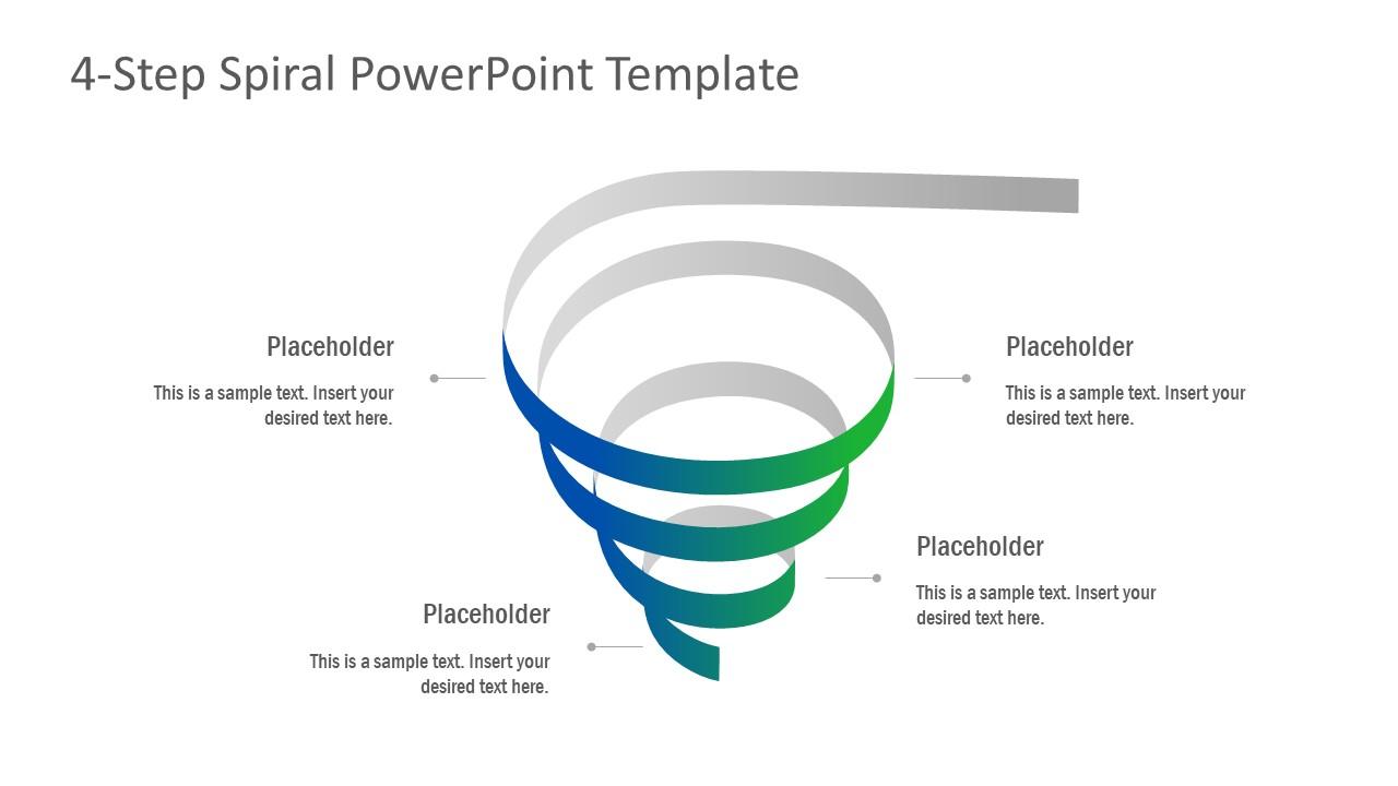 Gradient Spiral PowerPoint Layout