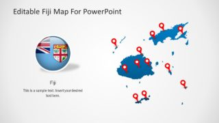 Editable Fiji Map for PowerPoint