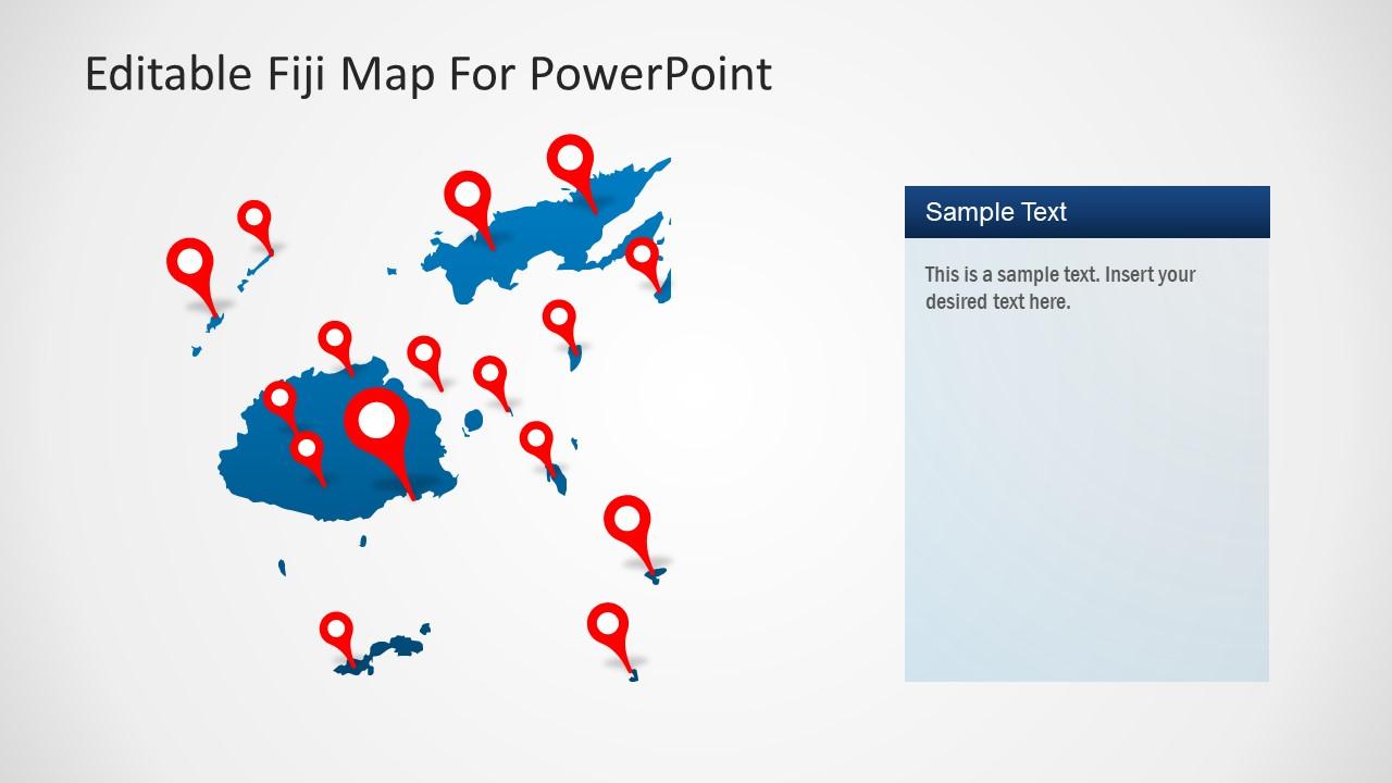 Fully Editable Map of Fiji