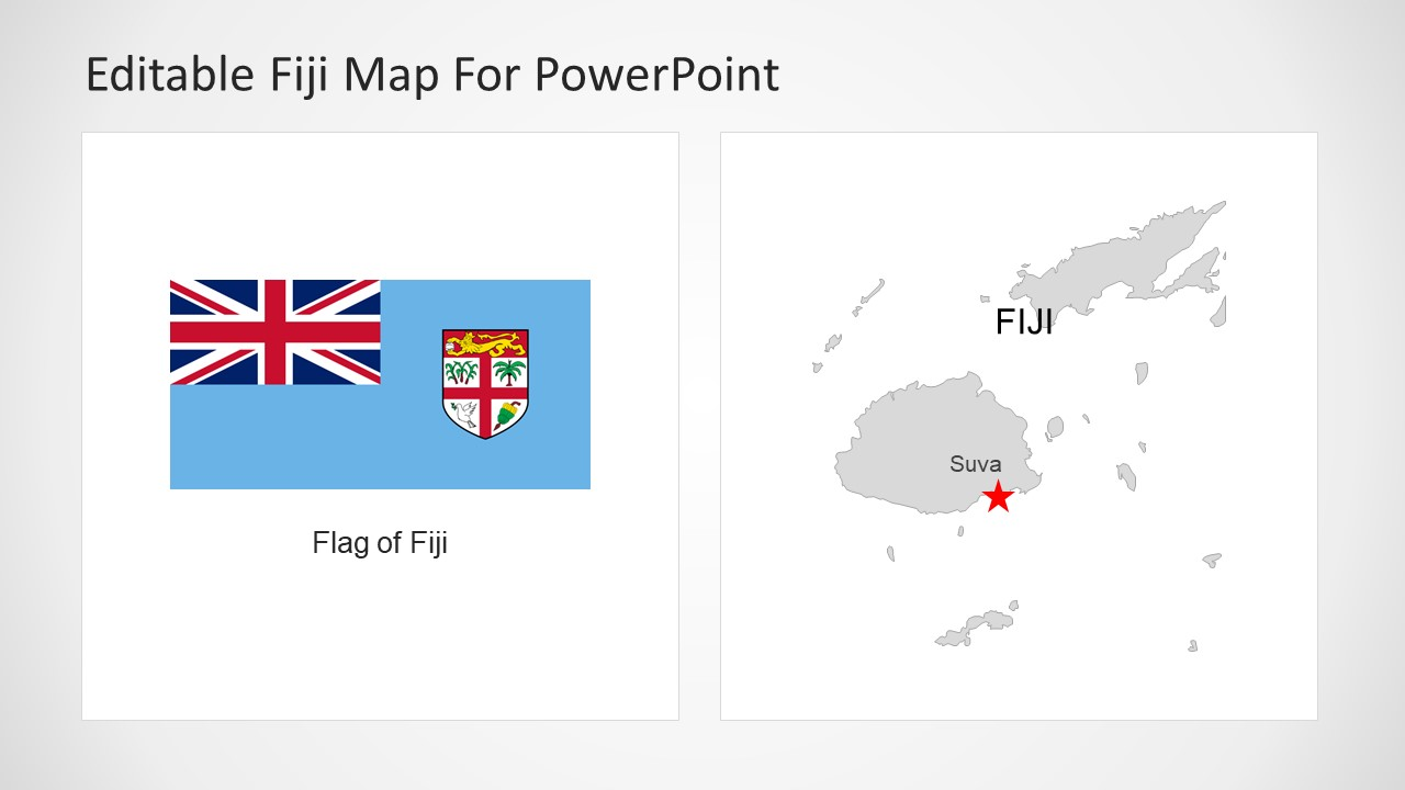 Island Map PowerPoint Silhouette
