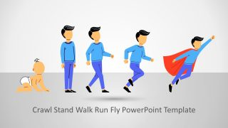Man Crawl Stand Walk Run Fly PowerPoint Template