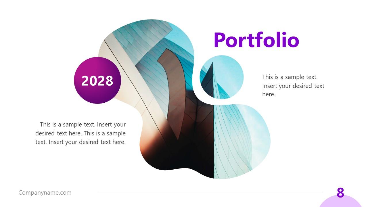 Business Portfolio Presentation Purple Aesthetic PPT