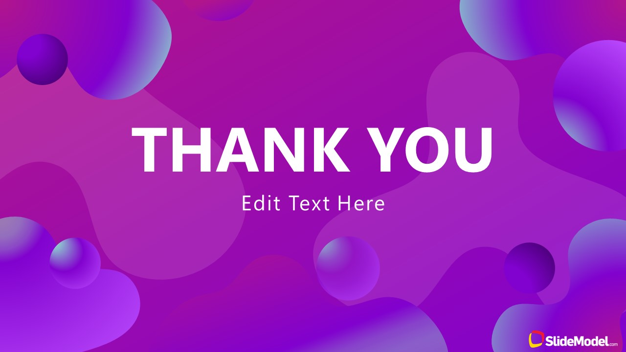Business Thank You Presentation Purple Aesthetic PPT