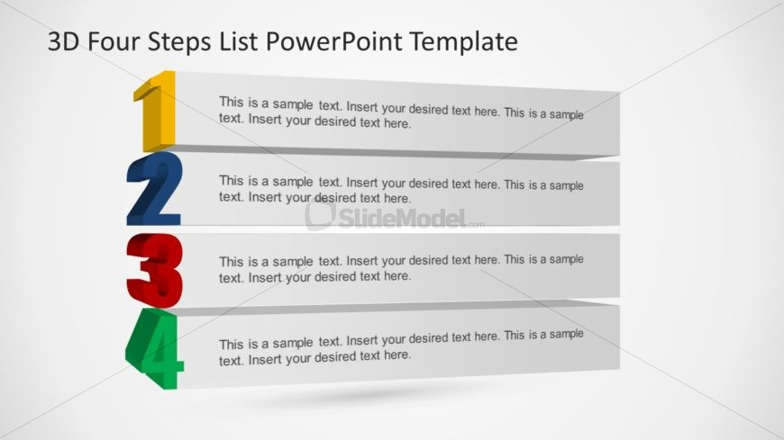 4 Steps Diagram Template