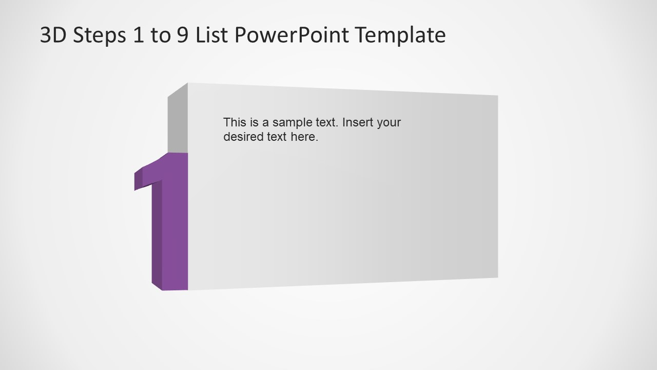 PowerPoint Number 1 List 3D Template