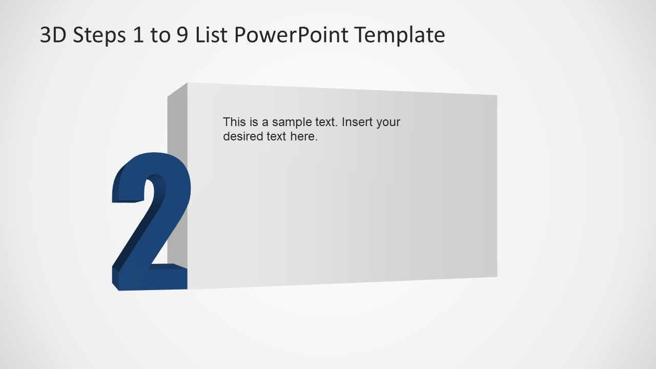 PowerPoint Number 2 List 3D Template
