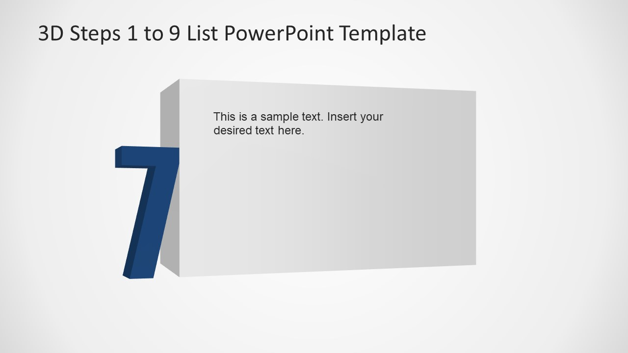 PowerPoint Number 7 List 3D Template