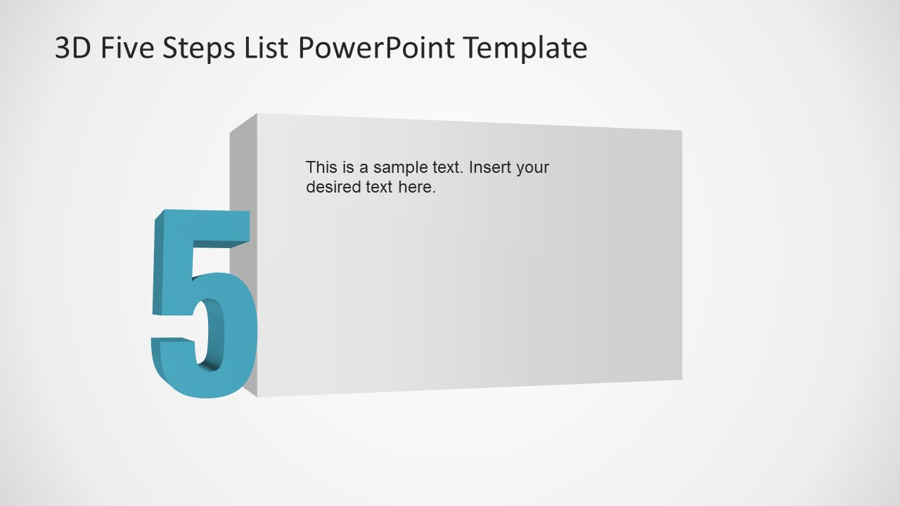 3D Numbers Step 5 Template