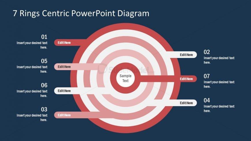PPT Circular Diagram 7 Centric Rings