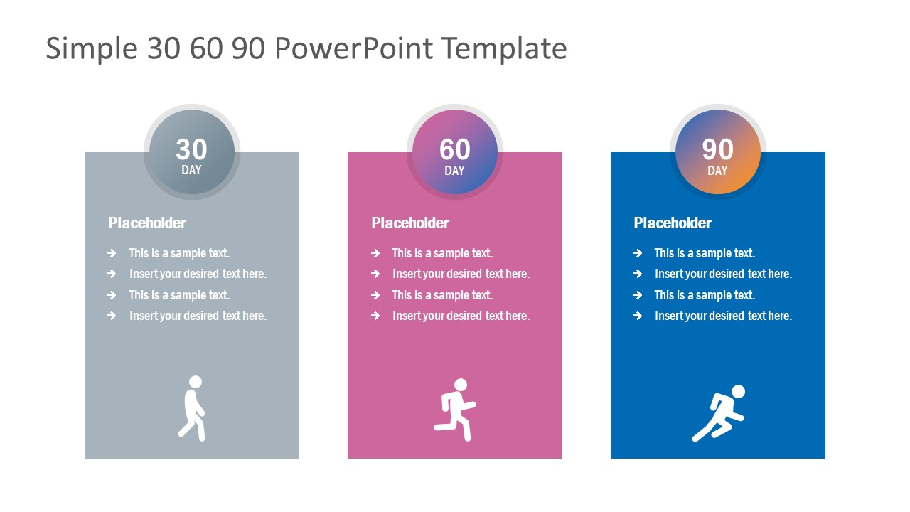 PowerPoint Diagram of 30-60-90 Days