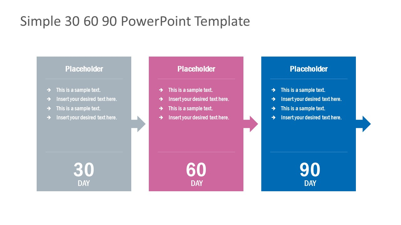 30-60-90 days plan powerpoint