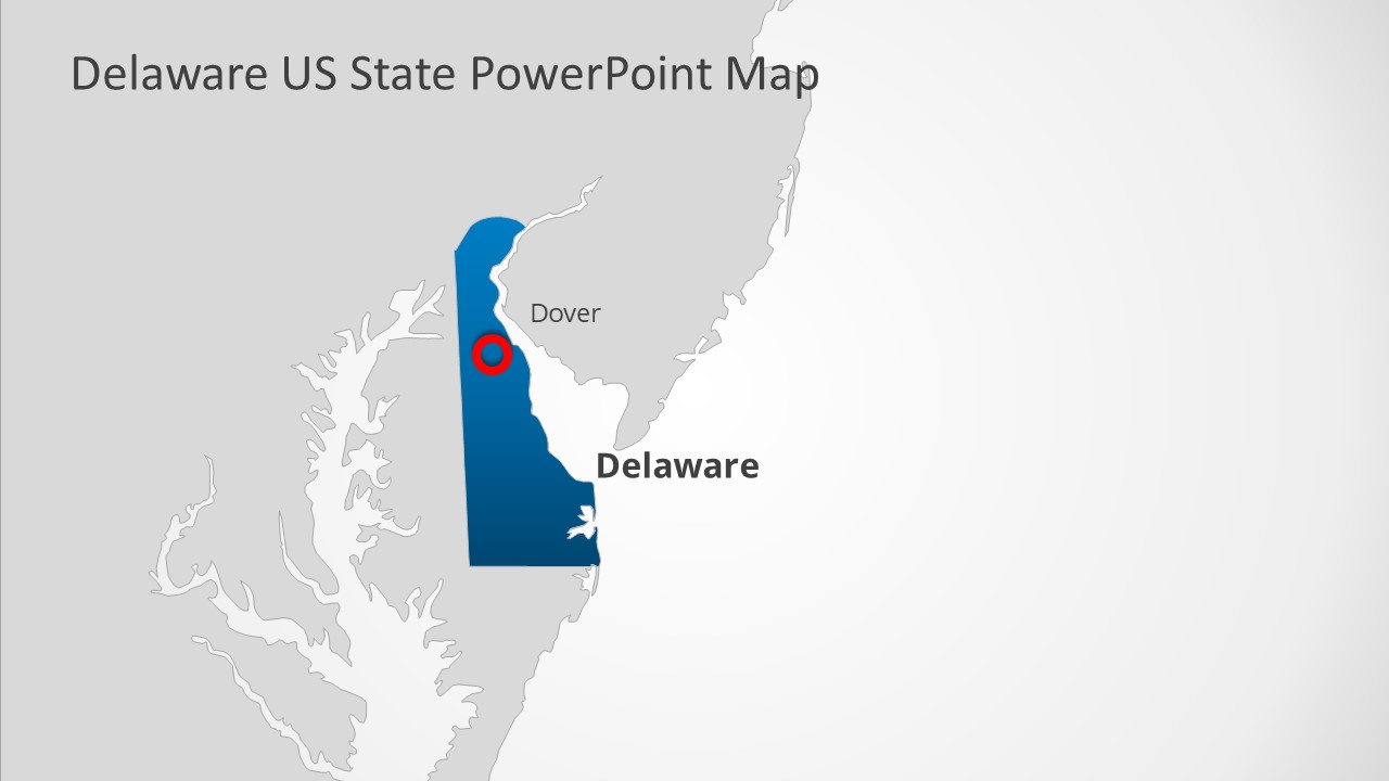 Map Template for Delaware State