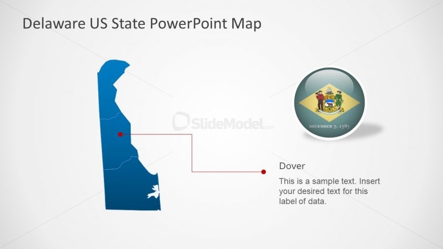 Creative Map of Delaware PPT