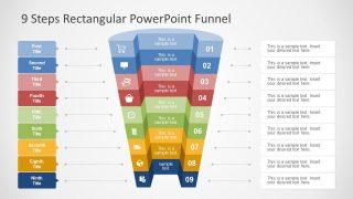 9 Steps PowerPoint Funnel Diagram