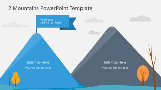 2 Mountains PowerPoint Template