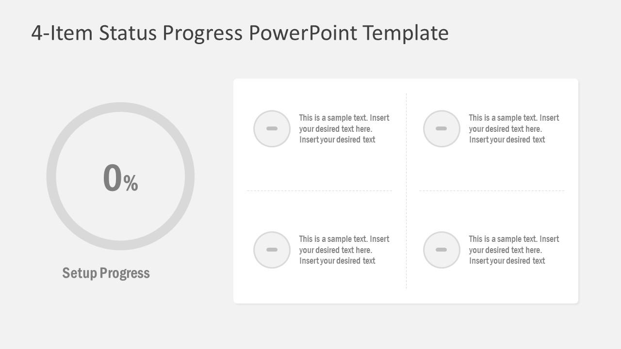 Slide of Work Start Progress