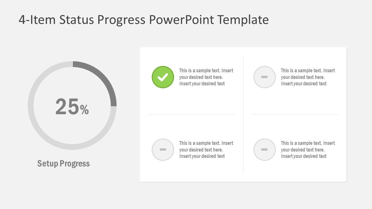 PPT 4 Segments Status Progress