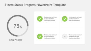 4-Item Status Progress PowerPoint Template