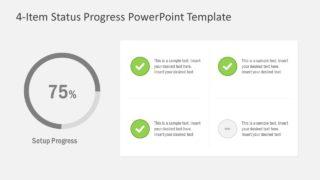 4-Item Status Progress PowerPoint Template