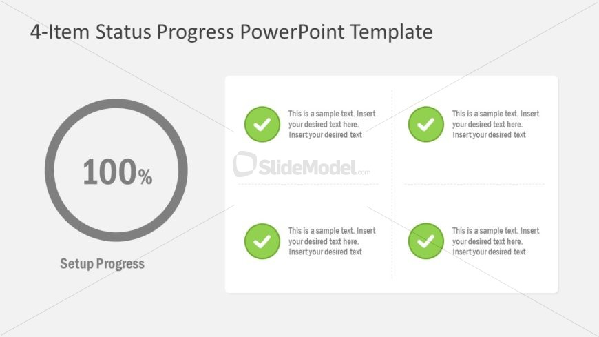 Process Completion Status PowerPoint