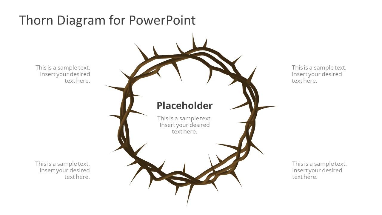 PPT Thorn 4 Steps Circular Diagram