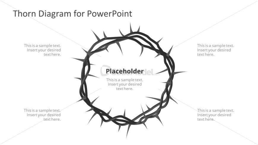 PowerPoint Crown of Thorn Template