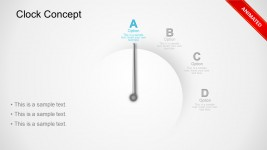 Animated Clock Business Concept PowerPoint