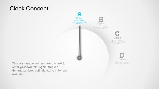 Option A Clock Business Concept PowerPoint Templates