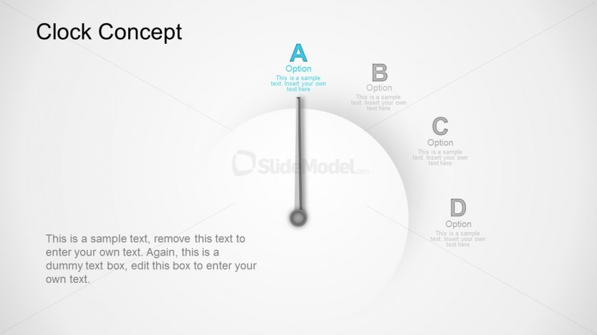 Time Management Concept With Clock PowerPoint Templates