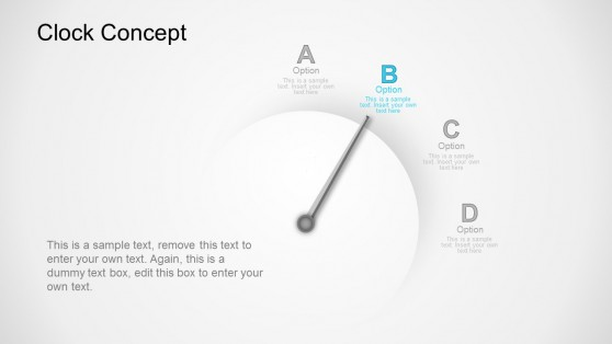 Option B Clock Business Concept PowerPoint Templates