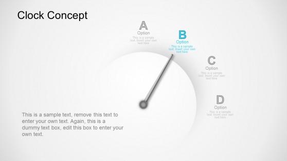 Option B Clock Business Concept PowerPoint Templates