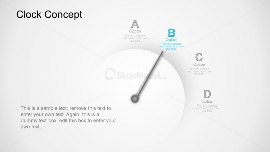 PowerPoint Business Time Concept With Clock Vector