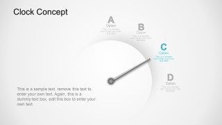 PowerPoint Business Concept Template With Clock Illustrations