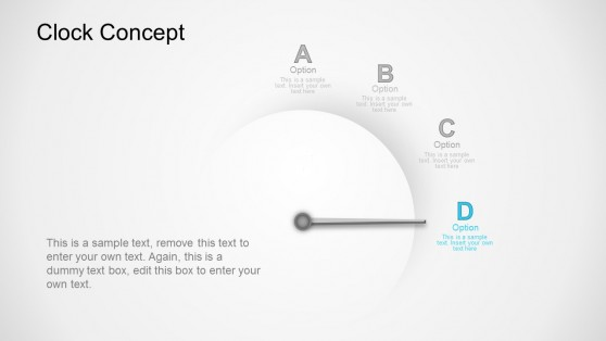 Option D Clock Business Concept PowerPoint Templates