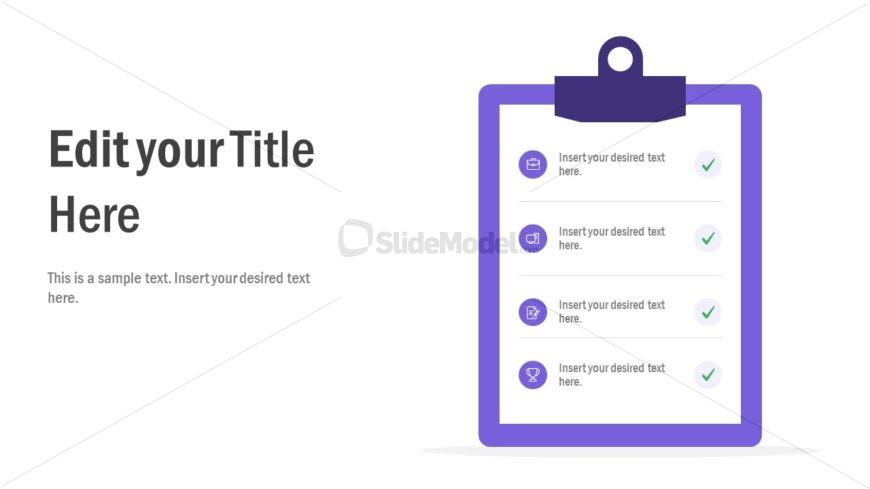 Agenda PowerPoint Diagram Checklist