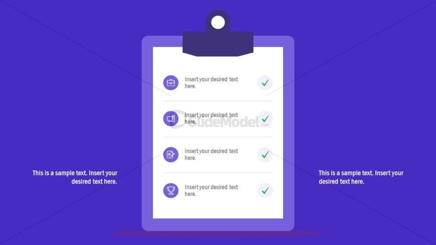 Clipboard Presentation 4 Steps Diagram