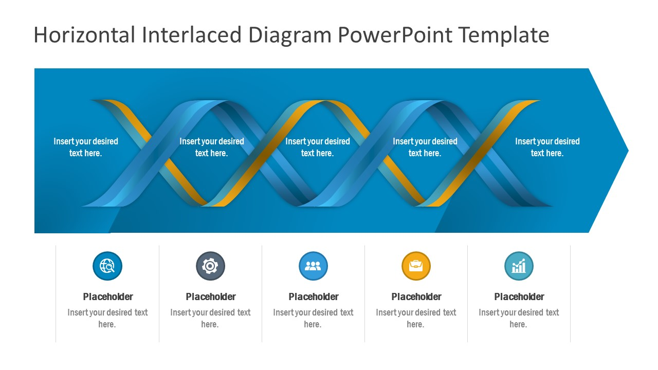 Horizontal Process Diagram PowerPoint