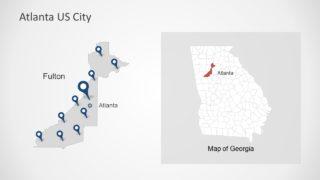 Presentation of Atlanta Map Location Pins