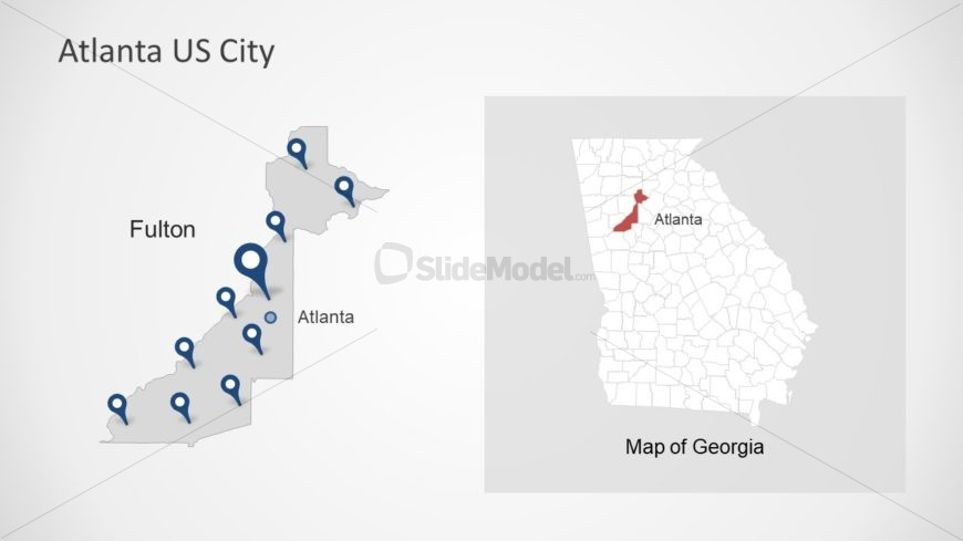 Presentation of Atlanta Map Location Pins