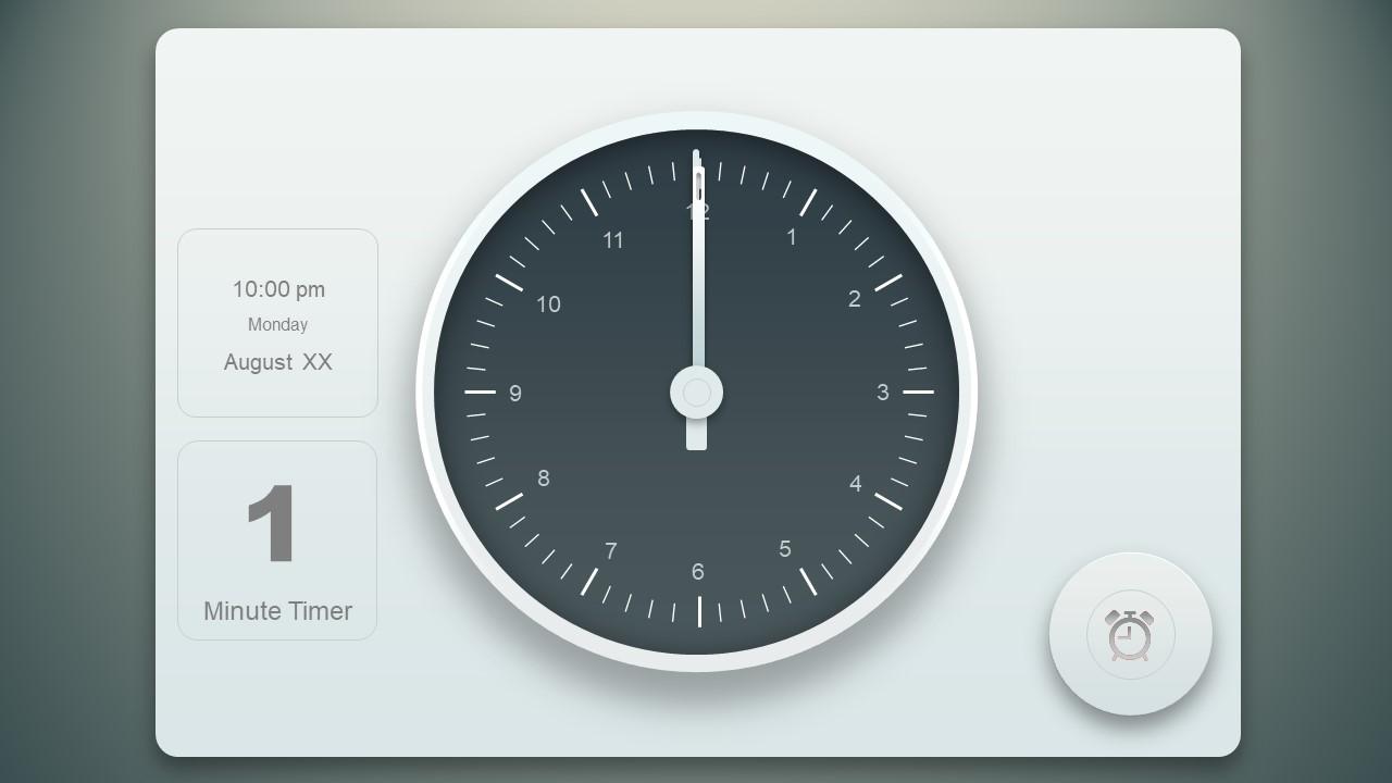 Animated Timer on Analog Clock