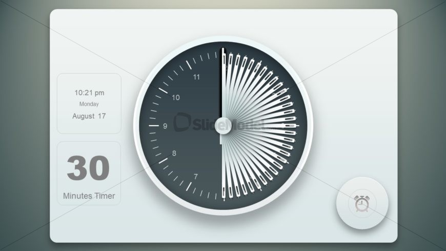 Timer Presentation with Animated Clock