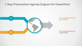 2 Step Presentation Agenda Diagram for PowerPoint