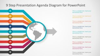 9 to 1 Agenda PowerPoint Template