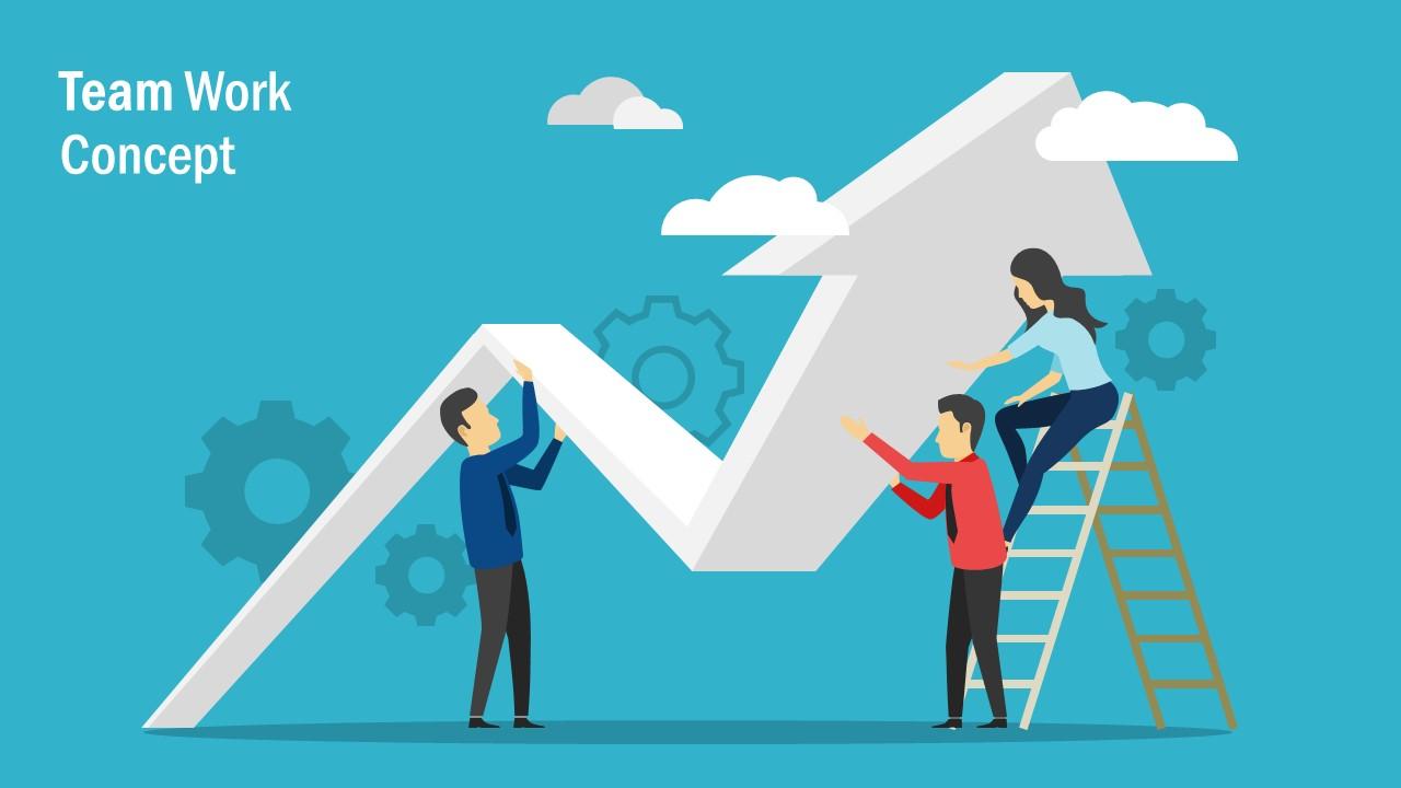 Arrow for Growth Teamwork Template